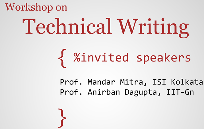 Half Day Workshop on Technical Writing